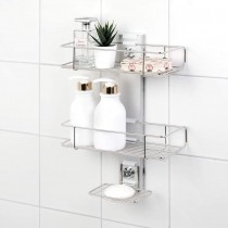 [BATHBEYOND] Shower Caddy Suction Cup Tier Shower Shelf - Adjustable Shower Caddy 400 Stainless Steel No-Drilling and Extra Adhesive Sticker for More Stronger Suction (3Tier)
